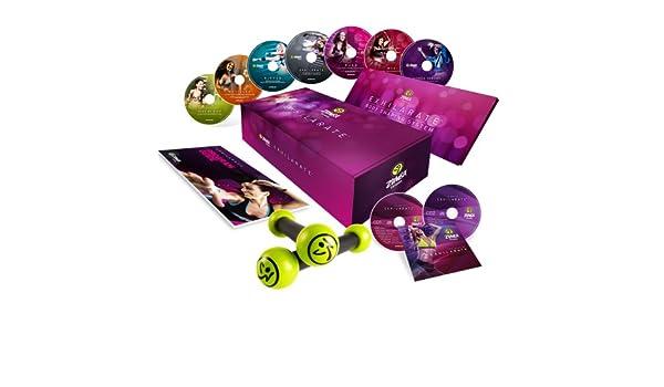Zumba Fitness® - Juego de 7 DVDs, 2 CDs y 2 Mancuernas para ...