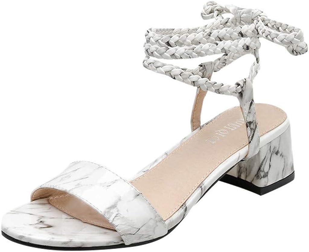 95sCloud Damen PU Espadrilles Sandalen, Klassische Flache