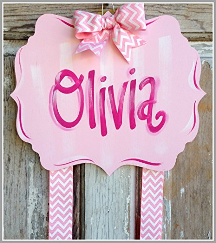 Personalized Bow Holder-Fancy Pink