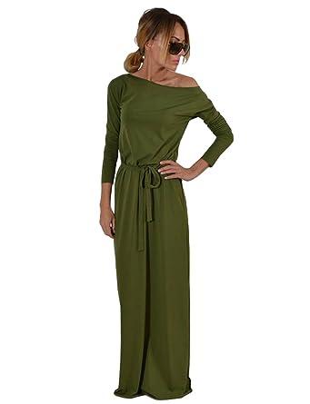 sale retailer 322a5 8c511 Sentao Damen Beiläufiges Kleid Elegant Langarm Maxikleid T-shirt Kleid  Lange Partykleid Cocktailkleid