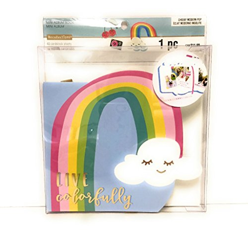 Recollections Cheeky Modern Pop Rainbow Mini Album Book by Recollections