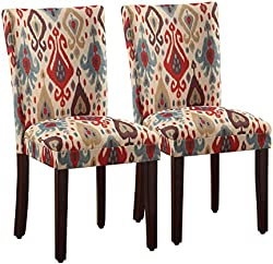 related image of HomePop Parsons Upholstered Accent Dining Chair, Set