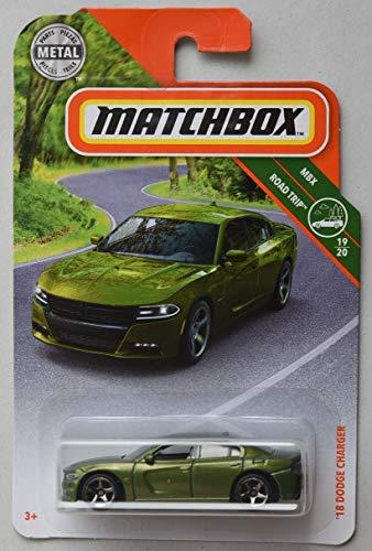 Matchbox 2019 MBX Road Trip '18 Dodge Charger 2/100, Green
