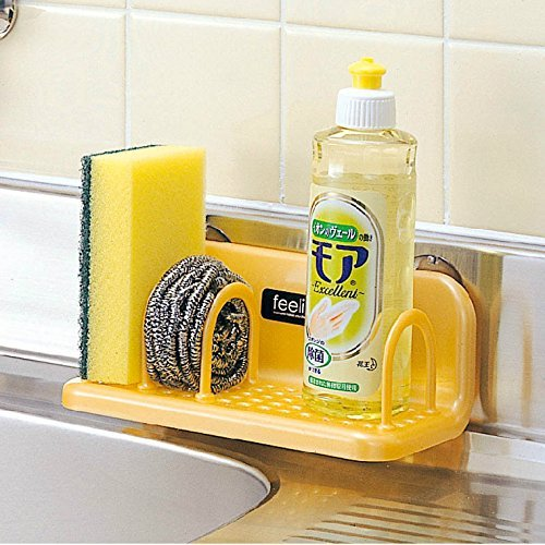 Truyoo Plastic Suction Cup Soap Draining Rack Bathroom Storage Holder