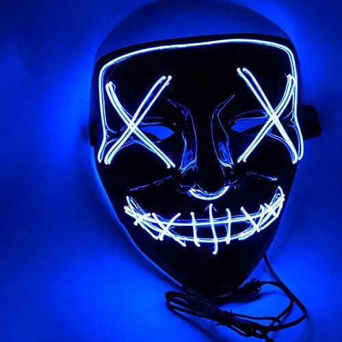 Sungpunet Máscaras Máscaras máscara del Partido luz de neón 1pcs ...