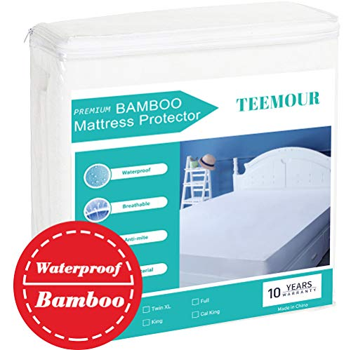 Queen Size Premium Bamboo Mattress Protector Cooling Mattress Protector  Hypoallergenic