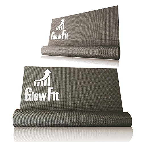 Premium PVC Yoga Mat - Non-slip Surface For Fitness Exercise – Multi Color Available – Durable, Washable, By Glowfit - Size 68''24''3mm -