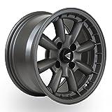 gun metal rim paint - 16x7 Enkei COMPE (Matte Gunmetal) Wheels/Rims 4x100 (477-670-4938GM)