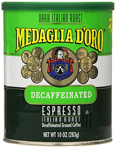 Medaglia Doro Italian Roast Decaffeinated Espresso Coffee  10 Ounce