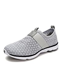 DREAM PAIRS 151009-M Men's Summer Mesh Light Weight Flexible Athletic Easy Walking Slip On Sport Water Swim Shoes