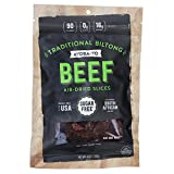 Ayoba-Yo Biltong. Air Dried Beef Slices. Better than Jerky. Tender Steak Cuts Made with Premium Meat. Sugar & Gluten Free. 4 Ounce