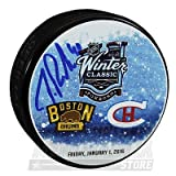 Tuukka Rask Boston Bruins Signed Autographed 2016 Winter Classic Dueling Puck