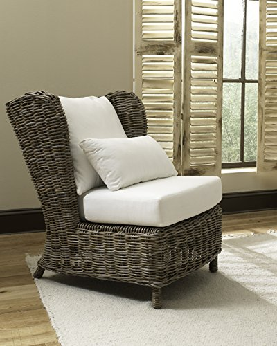 Padma'S Plantation MAJ01-KUBU Majorca Lounge Chair, Kubu Grey