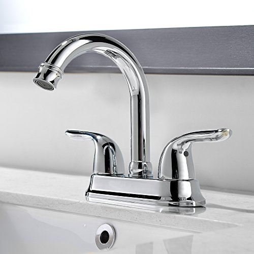 Comllen Best Commercial Centerset Two-Handle Lavatory Chrome Bathroom Sink Faucet, Bathroom Faucets Chrome Finish Without Drain Stopper by Comllen (Image #1)