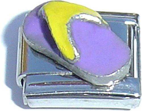 Flip Flop Italian Charm - Purple Flip Flop Italian Charm