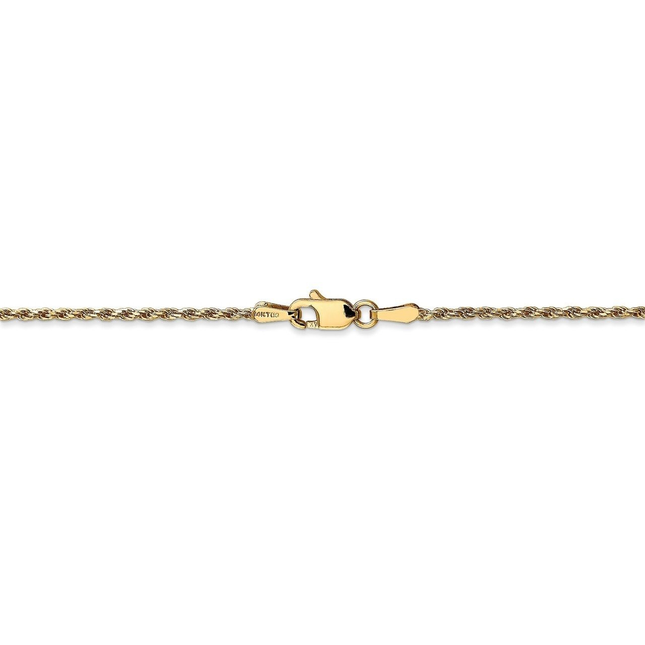 Lex /& Lu 14k Yellow Gold 1.3mm Solid D//C Rope Chain Necklace or Bracelet