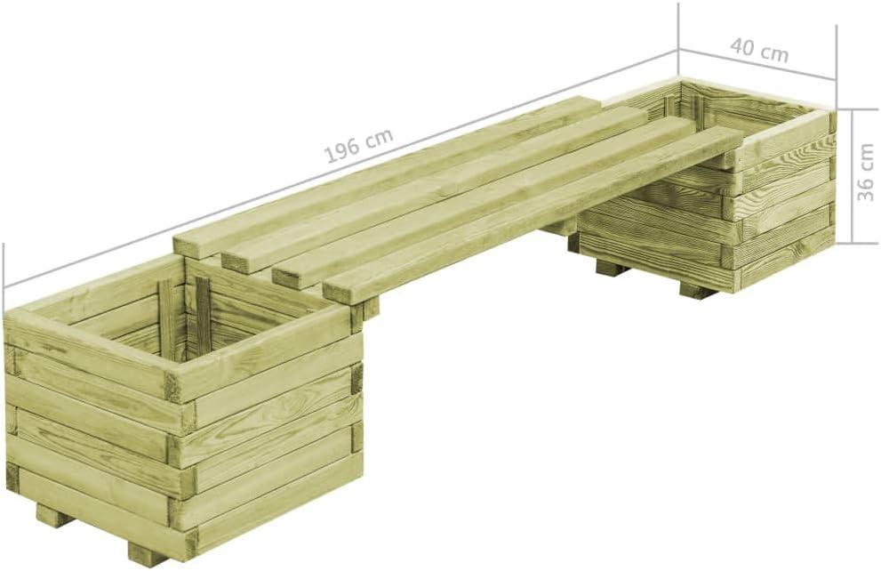 vidaXL Garden Raised Vegetable Bed FSC Impregnated Pinewood 40cm Plant Box