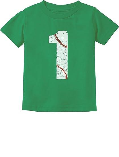 Baseball 1st Birthday Gift For One Year Old Infant Kids T Shirt 6M Black