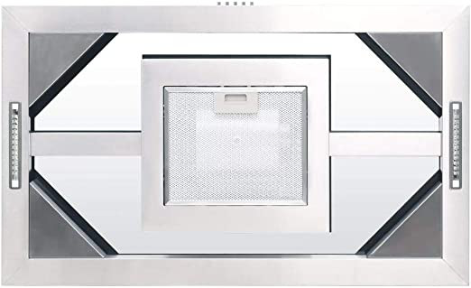 mewmewcat Campana Extractora de Techo 90 cm 756 m³/h LED Plateado 90 x 54 x (56-108) cm: Amazon.es: Deportes y aire libre