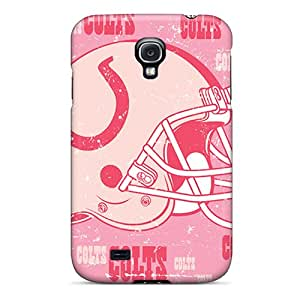 Shockproof Cell-phone Hard Cover For Samsung Galaxy S4 With Support Your Personal Customized Beautiful Indianapolis Colts Skin CharlesPoirier