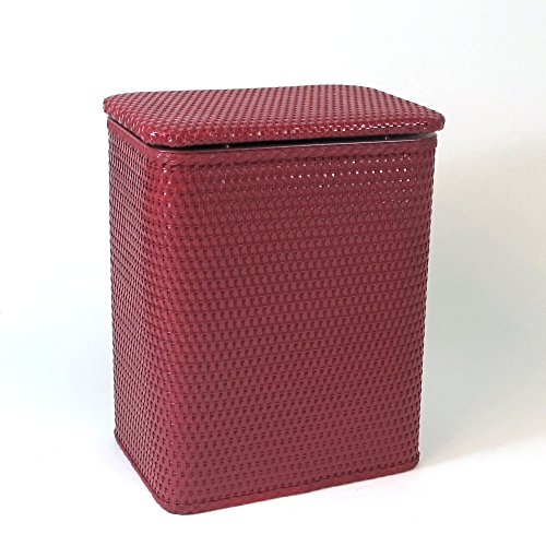 RedmonUSA Redmon for Kids Chelsea Pattern Wicker Nursery Hamper, Raspberry