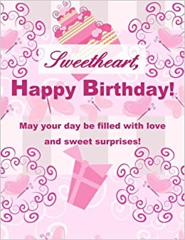 Sweetheart Happy Birthday XL Greeting Card Notebook10th Gifts For Girls In Al13th Al10th