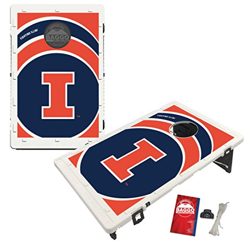 Illinois Fighting Illini Baggo Bean Bag Toss Cornhole Game Vortex Design - Illinois Fighting Illini Bean Bag
