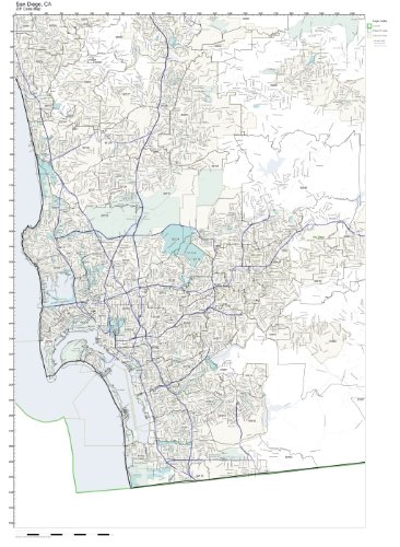 ZIP Code Wall Map of San Diego, CA ZIP Code Map Laminated (Wall Code Map Zip)