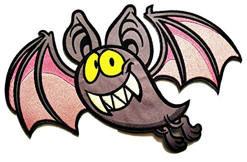 Nipitshop Patches Jumbo Halloween Bat Fly Patches Sticker Cartoon Kids Design Badges Iron On Sewing Kids Clothing Hat Shoes