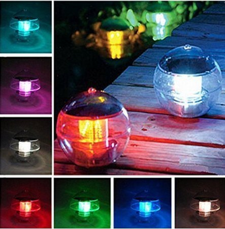 SXNING Solar Power Color Changing Globe Night Light Lamp Waterproof Floating LED Light Swimming Pool Pond Fountain Garden Party Decor 1 pack by SXNING