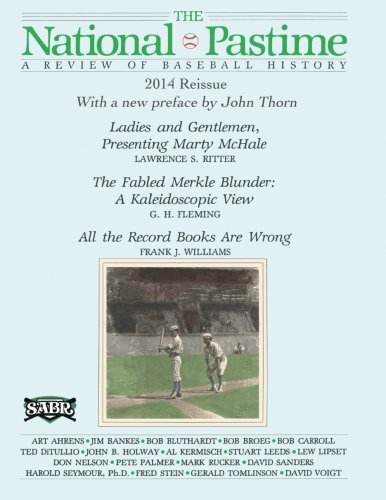 The National Pastime: A Review of Baseball History: Premiere Issue Replica