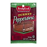#5: Bridgford Sliced Turkey Pepperoni, Gluten Free, 70% Less Fat, Made in the USA, 4oz, Pack of 3