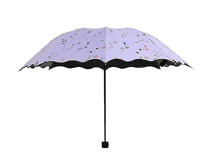 """irrompible resistente al viento Sunny paraguas 3 plegado vinilo protector solar anti-UV"