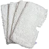 EcoMaid 4pcs Washable Replacement Cleaning Mop Pads for Shark Steam Mop Pocket Microfiber Pads for Shark S3500 series, S3601 and S3901 Shark Steam Duster Microfiber Cleaning Pads