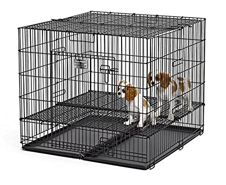 MidWest Puppy Playpen With 1 Inch Mesh Floor Grid, 36u0026quot;L (Medium Model