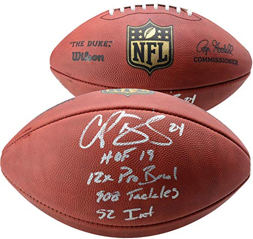 Champ Bailey Denver Broncos Autographed Duke Pro Football with Multiple Inscriptions - Limited Edition of 24 - Fanatics Authentic - Denver Pro Autographed Football Broncos