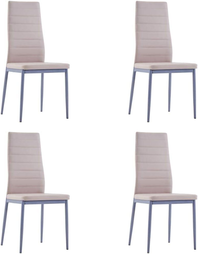 UnfadeMemory Essgruppe Esszimmergruppe mit Esstisch und Essst/ühlen Kunstleder Gepolsterte Sitz Glas Tischplatte Esszimmer Tischgruppe Sitzgruppe 5-TLG. Set, Blau