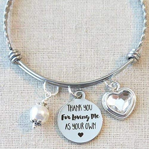 Gifts For STEPMOM STEPMOTHER Birthday Stepmom Thank You Loving Me As Your Own Bracelet Blended Family Quote Gift Stepmother