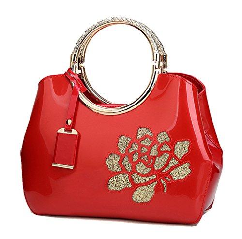 Bolso Cruzados Mujer Vino Show Para Yan Rojo Red pxw57nq