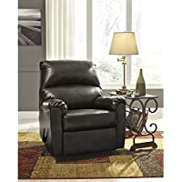 Flash Furniture Signature Design by Ashley Talco Rocker Recliner in Gunmetal Faux Leather