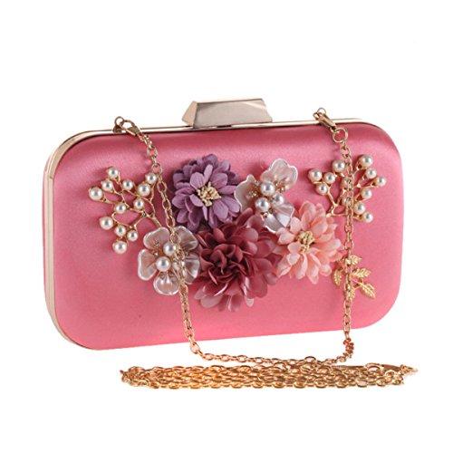 Evening Dress Pink Diamond Bag Women's Bag Shiny Bag Bag Luxury Clutch 1nRqwrW16a