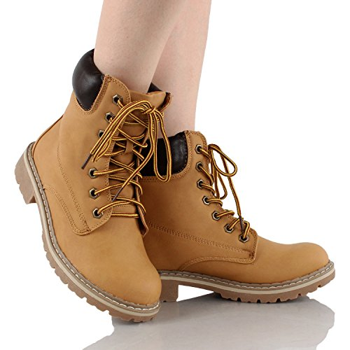 7 3 Boot Work M Padded Slip Combat Shoes Camel B Martin Cuff US Lace Hiking Women's Ankle Forever 7 Resistant Up Waterproof Broadway Short Outdoor 3 Eyes Boot SxqF5nWf