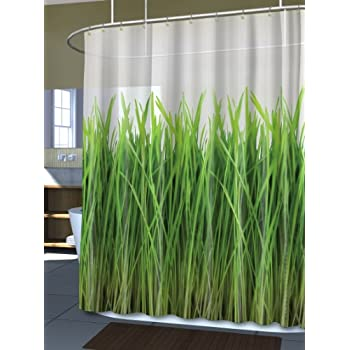 Splash Home EVA Shower Curtain 70 By 72 Inch Grass Green