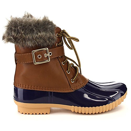Waterproof Boots Women's Breeze Buckled Snow Nature Chic Duck up Lace Duck 01 xPwzzdtqOH