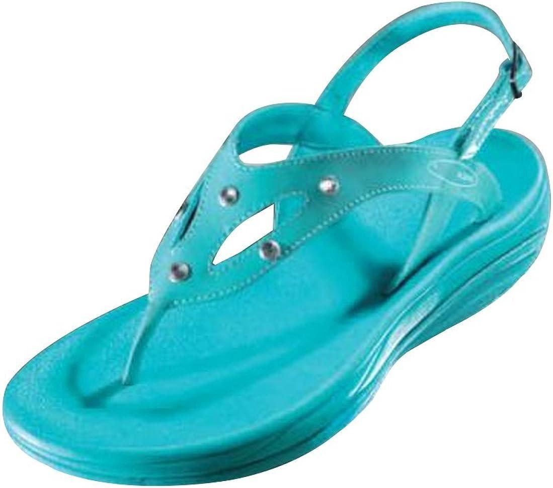 Walk Maxx Fitness Sandale Ocean Crystal Sommer Schuhe Zehentrenner Sandaletten türkis mit Strass