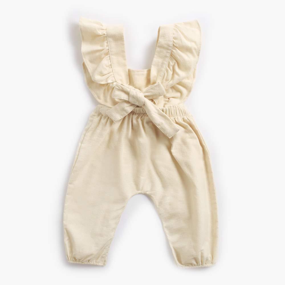 Sanlutoz Cute Unisex Newborn Baby Bodysuits Infant Ruffle Toddler Romper Baby Girls