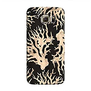 Cover It Up - Black Gold Nature Print Galaxy S6 Edge Plus Hard Case