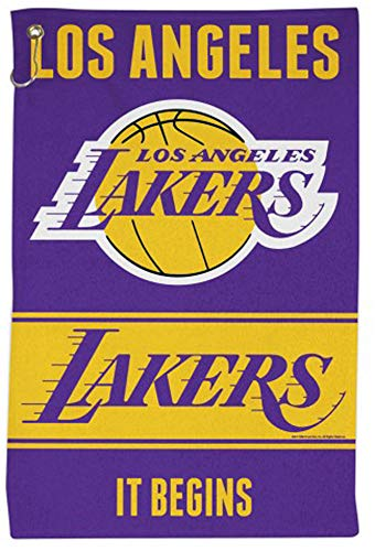 - WinCraft NBA Los Angeles Lakers Sports Towel with Metal Grommet and Hook, 16x25 inches