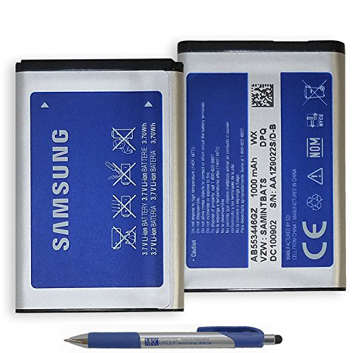 Original Official Samsung Battery 1000mAh AB553446GZ - Li-on 3.7Wh with MKK Exclusive Stylus Pen (Sealed Pack New) by Samsung