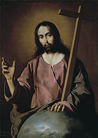 The High Quality Polyster Canvas Of Oil Painting 'Zurbaran Francisco De El Salvador Bendiciendo 1638 ' ,size: 8 X 11 Inch / 20 X 28 Cm ,this Imitations Art DecorativeCanvas Prints Is Fit For Nursery Gallery Art And Home Decor And Gifts